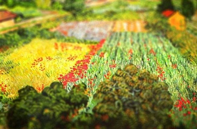 نقاشی مزرعه ونسان ون گوگ