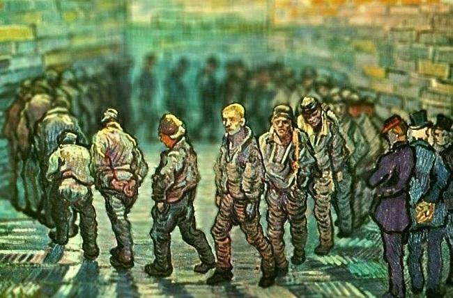 ورزش زندانیان ونسان ون گوگ
