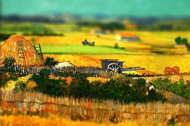نقاشی خشکسالی ونسان ون گوگ