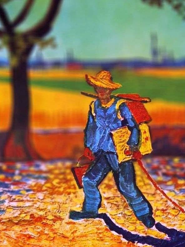 نقاش در راه کار ونسان ون گوگ
