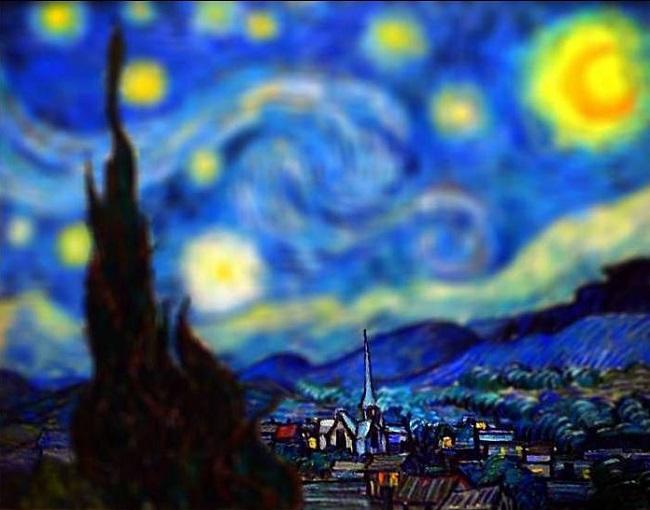 شب پر ستاره ونسان ون گوگ