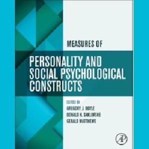 کتاب لاتین اندازه گیری شخصیت و سازه های روانی اجتماعی (2015)