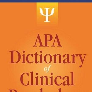 کتاب لاتین لغت نامه روانشناسی بالینی انجمن روانشناسی آمریکا