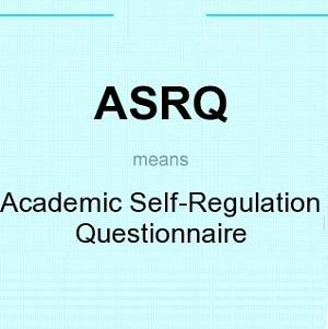 پرسشنامه خودتنظیمی تحصیلی (ASRQ)