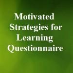 پرسشنامه راهبردهای انگیزشی برای یادگیری (MSLQ)