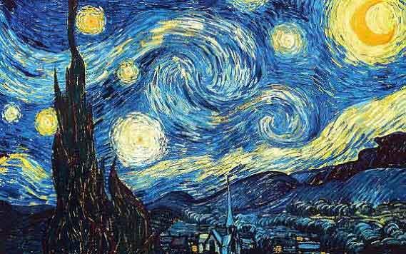 تابلو شب پر ستاره
